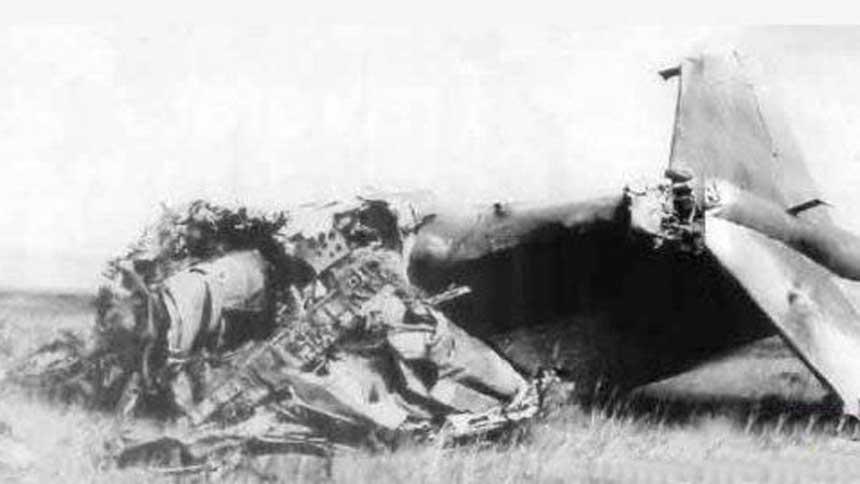 林彪的飞机坠毁在蒙古。(Public Domain)