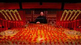 2021 年 6 月 28 日,在中国共产党成立 100 周年前夕,习近平出现在屏幕上。