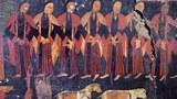 古格王宫遗址壁画上的宣舞。