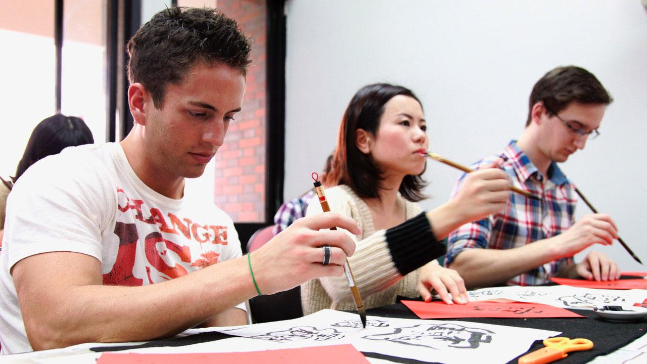 台湾师范大学国语中心吸引来自各地的外籍生学华语。(国立台湾师范大学提供)