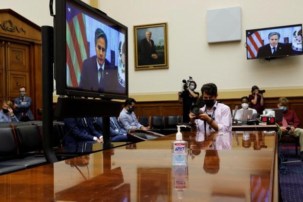 阿富汗撤军后 美国国务卿布林肯重申对台承诺