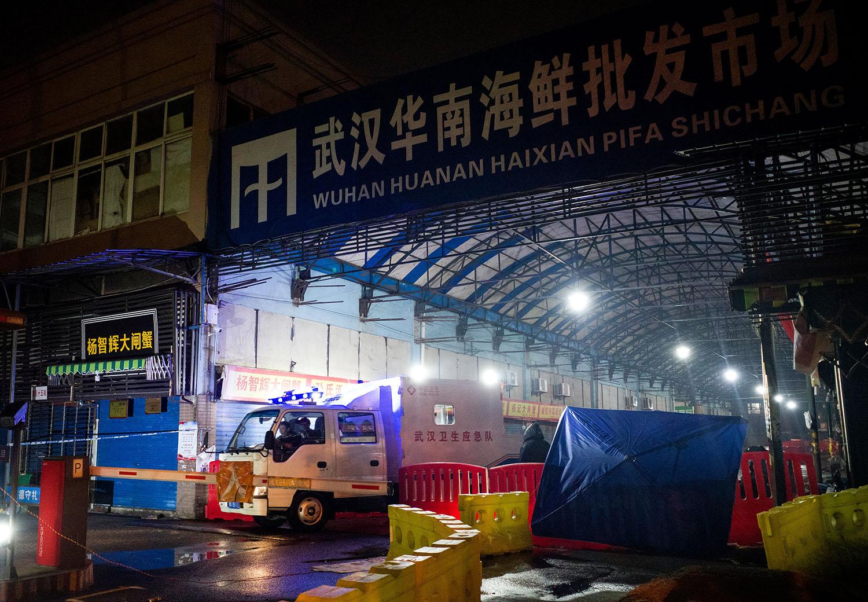 中国武汉华南海鲜市场(法新社)
