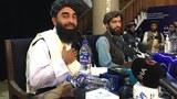 塔利班发言人举行记者会,发表包括不迫害女权和不生产毒品等多项声明。