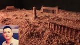 本节目华盛顿手记八九六四亲历口述人郭健及他的艺术装置作品:碎肉末堆砌的天安门广场。