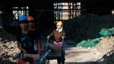 上海一处建筑工地的女工