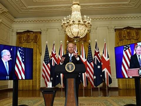 9月15日美英澳三国首脑宣布组成新联盟。