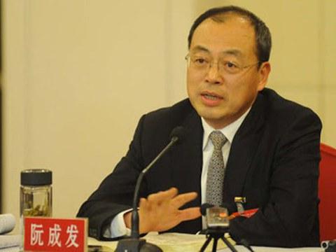 前中共云南省委书记阮成发。