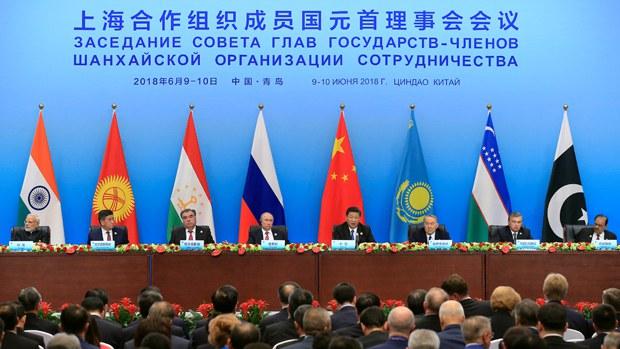 上合组织会议的资料图片。(AP)